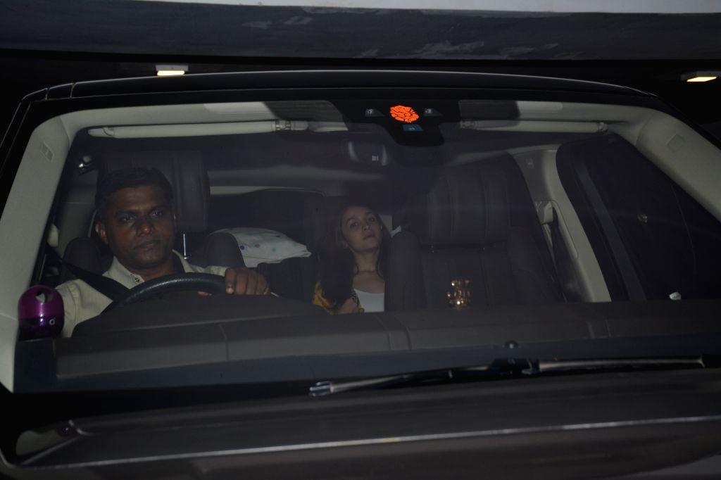 Actress Alia Bhatt seen at Karan Johar's house in Mumbai's Bandra on Nov 4, 2018. - Alia Bhatt