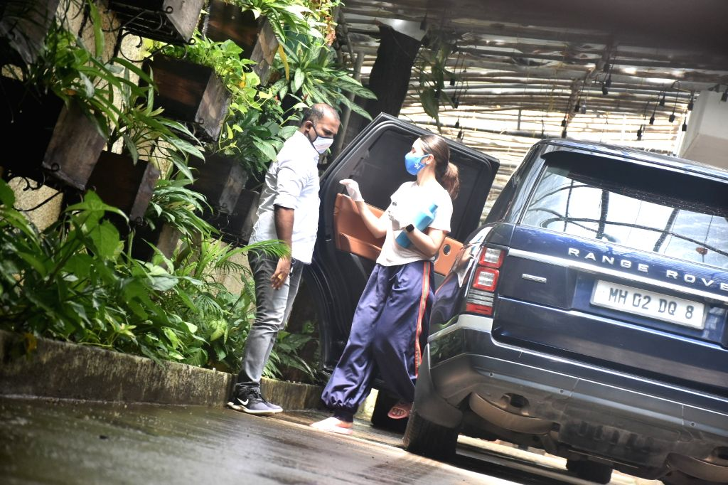 Actress Alia Bhatt seen at Sunny Sound studio in Mumbai's Juhu on July 30, 2020. - Alia Bhatt