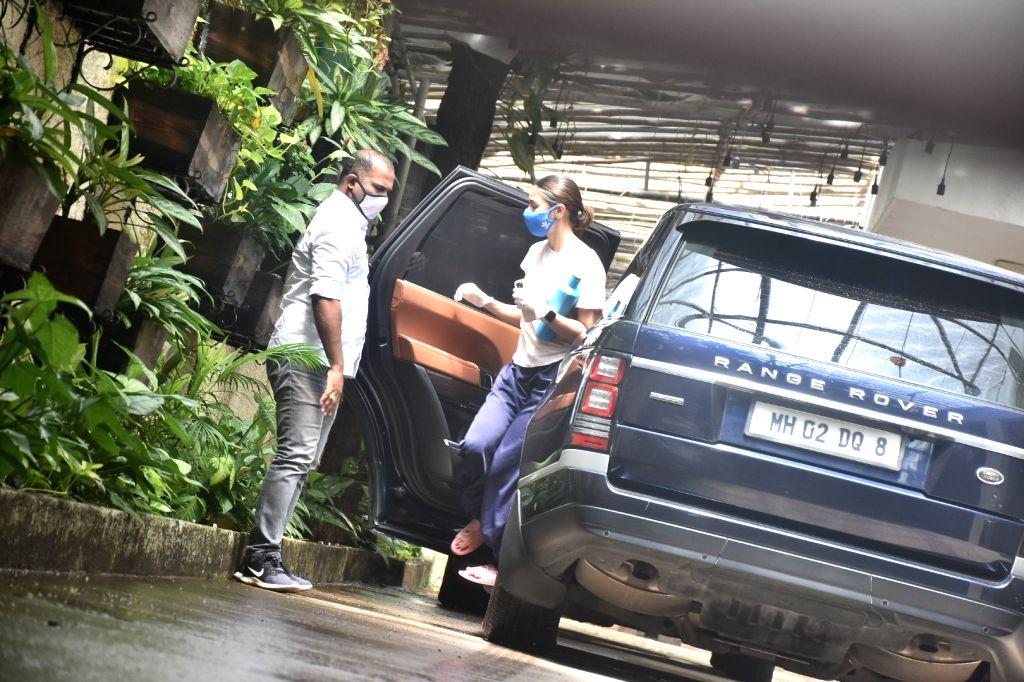 Actress Alia Bhatt seen at Sunny Sound studio in Mumbai's Juhu on July 30, 2020. - Alia Bhatt