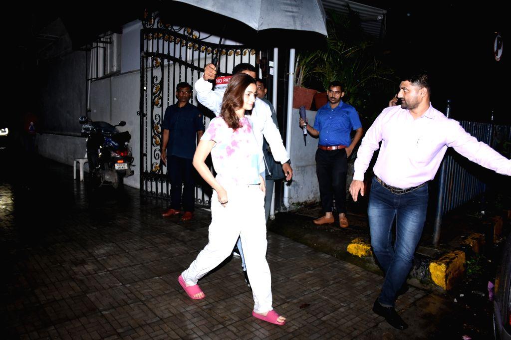 Actress Alia Bhatt seen at the office of Dharma Productions in Mumbai on Aug 5, 2019. - Alia Bhatt