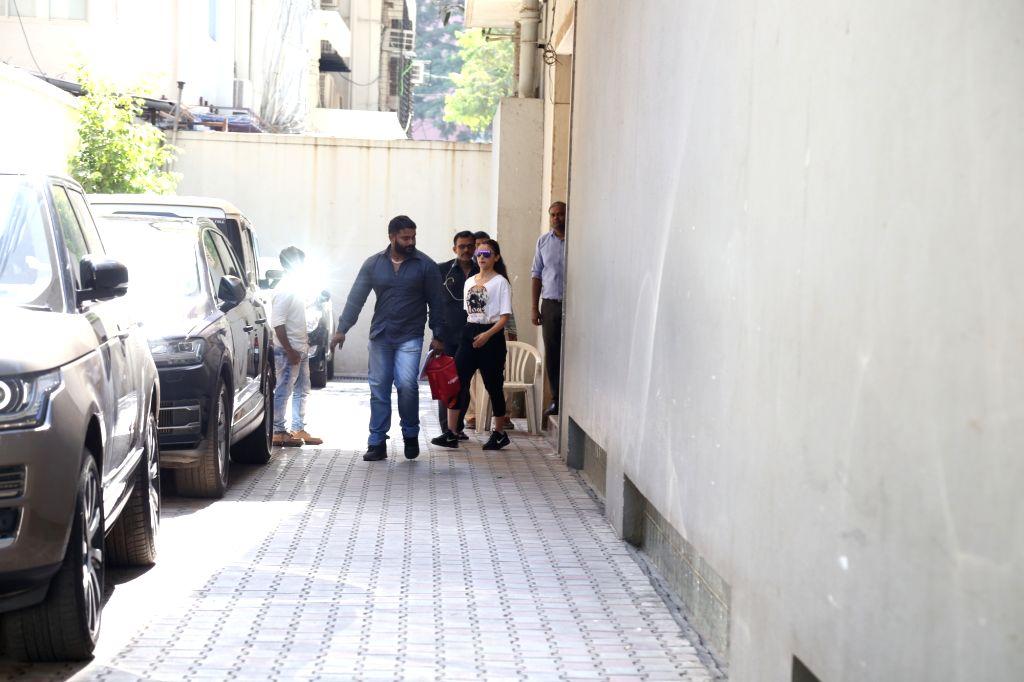 Actress Alia Bhatt seen at the office of Vishesh Films in Mumbai's Bandra on May 11, 2019. - Alia Bhatt