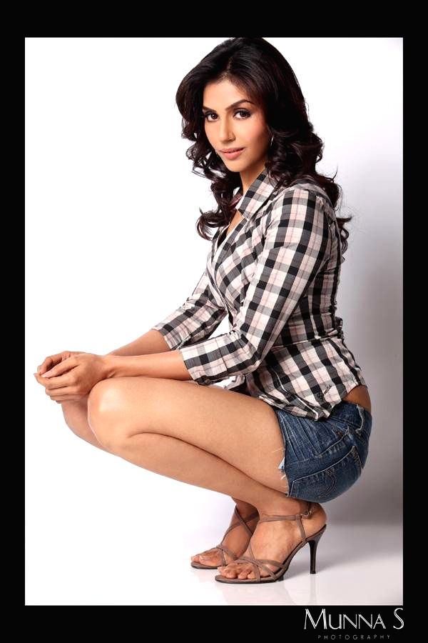 Actress Alka Verma poses for a photo during a photoshoot.