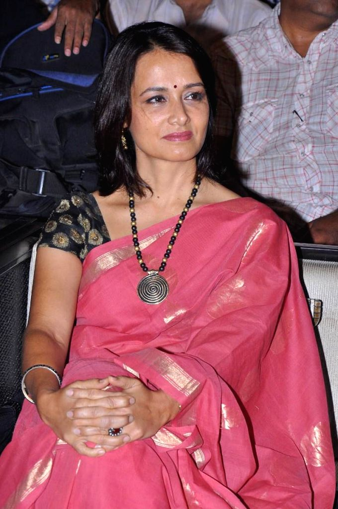 Actress Amala during the launch of 'Mee lo Evaru Kotiswarudu' a television game show which will be aired from 1st week of June, in Hyderabad on April 18, 2014. - Amala