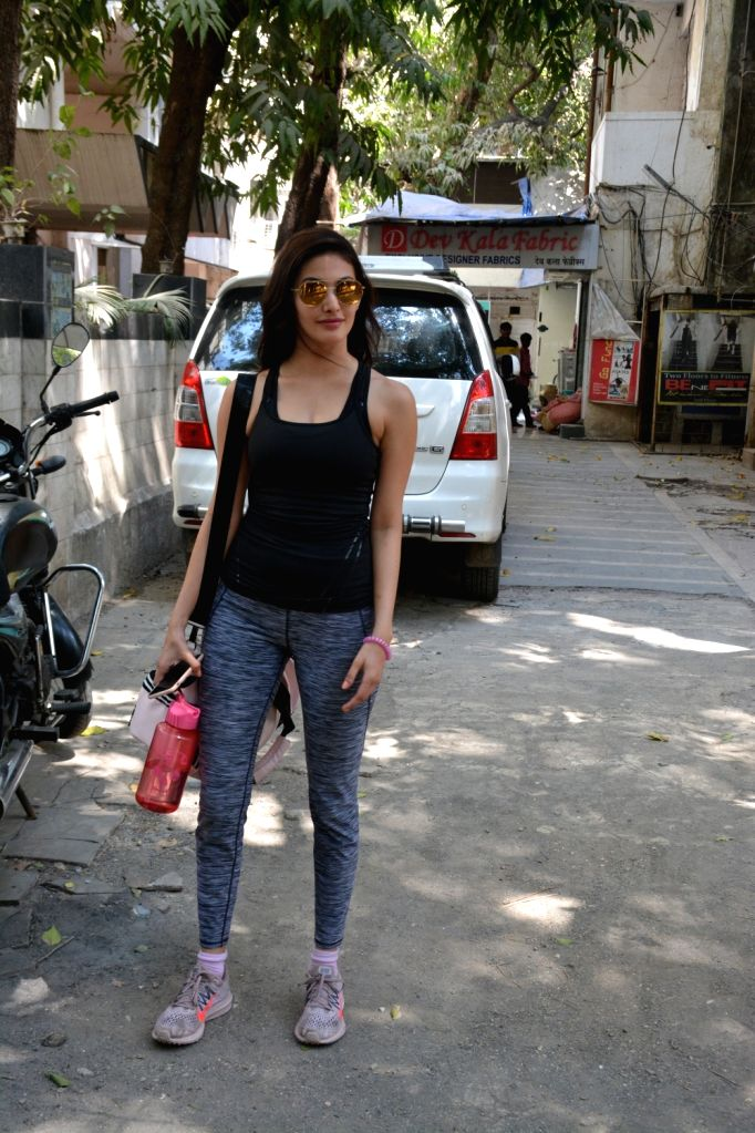 Actress Amayra Dastur seen a gym in Bandra, Mumbai on March 6, 2019. - Amayra Dastur
