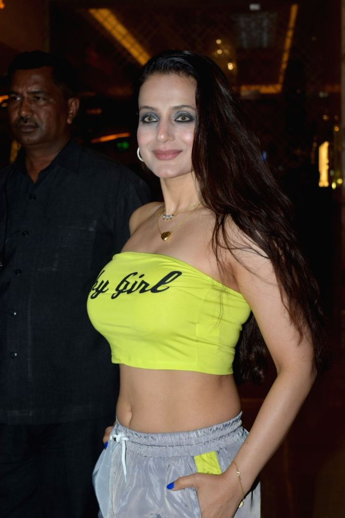"""Actress Ameesha Patel at the special screening of the film """"Bypass Road"""" in Mumbai on Nov 8, 2019. - Ameesha Patel"""
