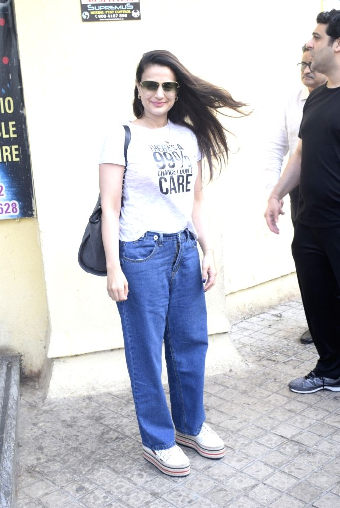 """Actress Ameesha Patel at the trailer launch of upcoming film """"Notebook"""" in Mumbai, on Feb 22, 2019. - Ameesha Patel"""