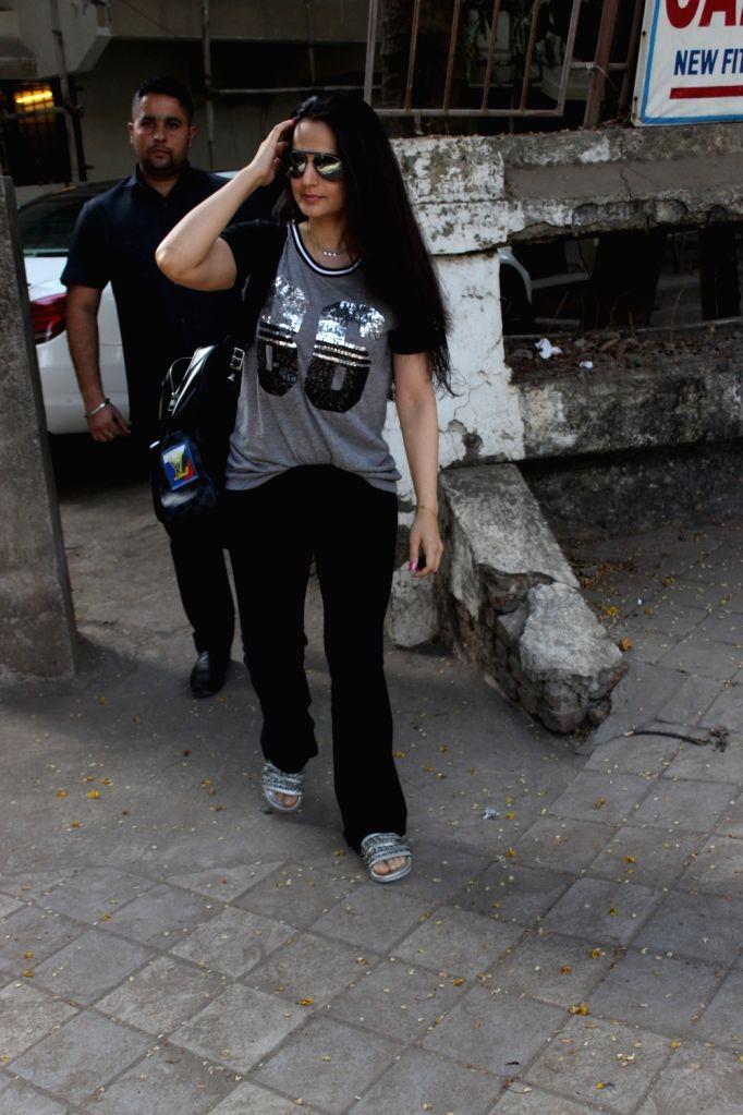 Actress Ameesha Patel seen in Mumbai's Juhu, on May 31, 2019. - Ameesha Patel