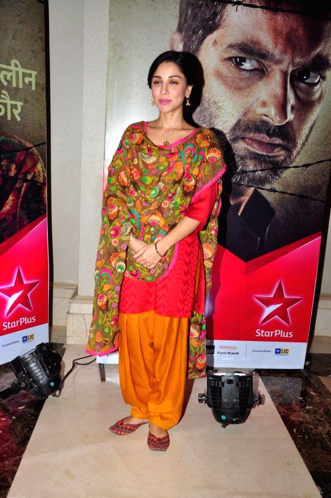 Actress Amrita Puri during the press conference of Star Plus TV serial P.O.W.- Bandi Yuddh Ke in Mumbai on Oct. 8, 2016. - Amrita Puri