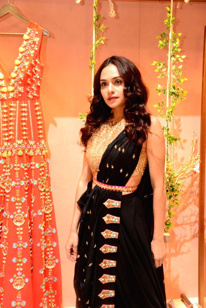 Actress Amruta Khanvilkar at a fashion studio in Mumbai, on March 4, 2019. - Amruta Khanvilkar