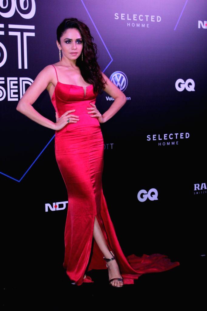"Actress Amruta Khanvilkar at ""GQ 100 Best Dressed Awards 2019"", in Mumbai, on June 1, 2019. - Amruta Khanvilkar"