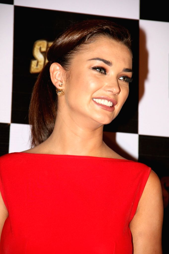 Actress Amy Jackson during the trailer launch of film Singh Is Bling, in Mumbai, on August 18, 2015. - Amy Jackson