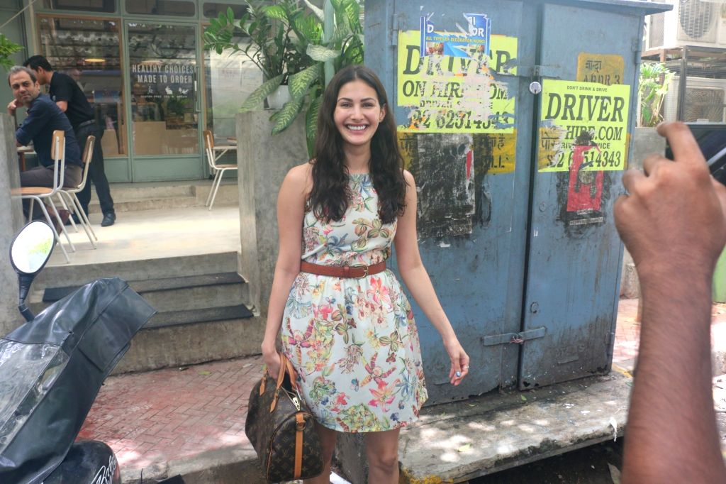 Actress Amyra Dastur seen at Bandra in Mumbai, on July 15, 2019. - Amyra Dastur