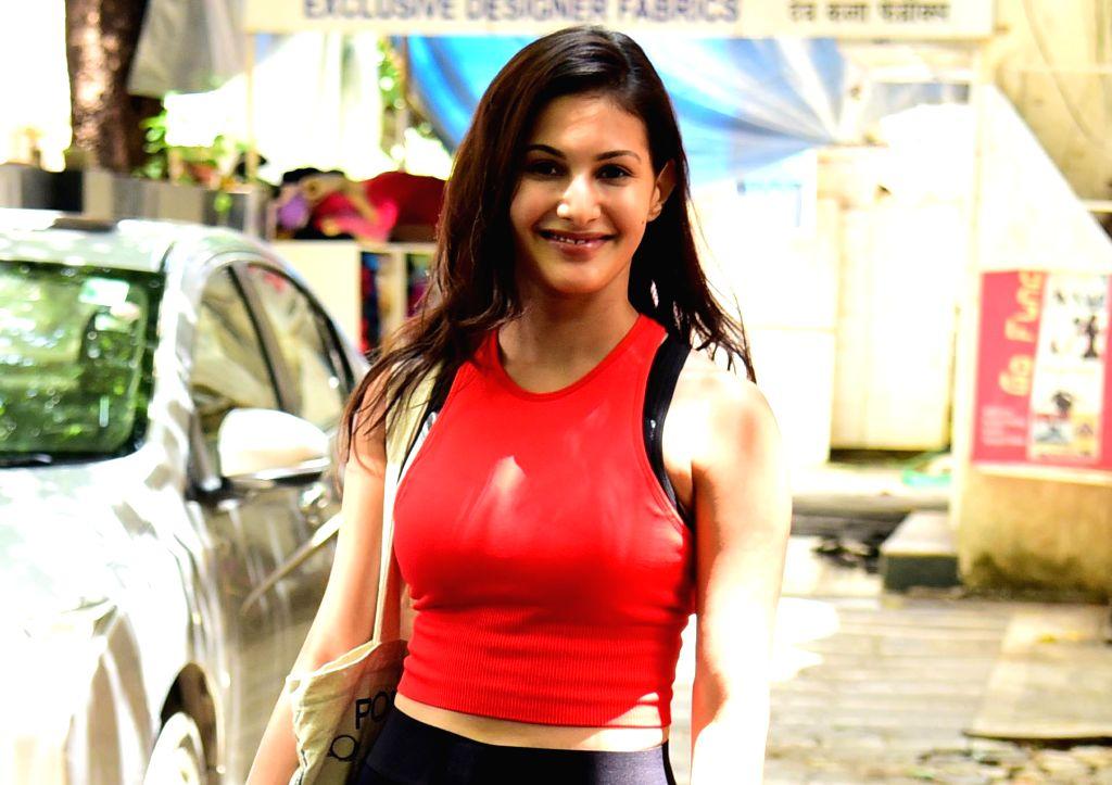 Actress Amyra Dastur seen at Bandra in Mumbai, on Aug 28, 2019. - Amyra Dastur