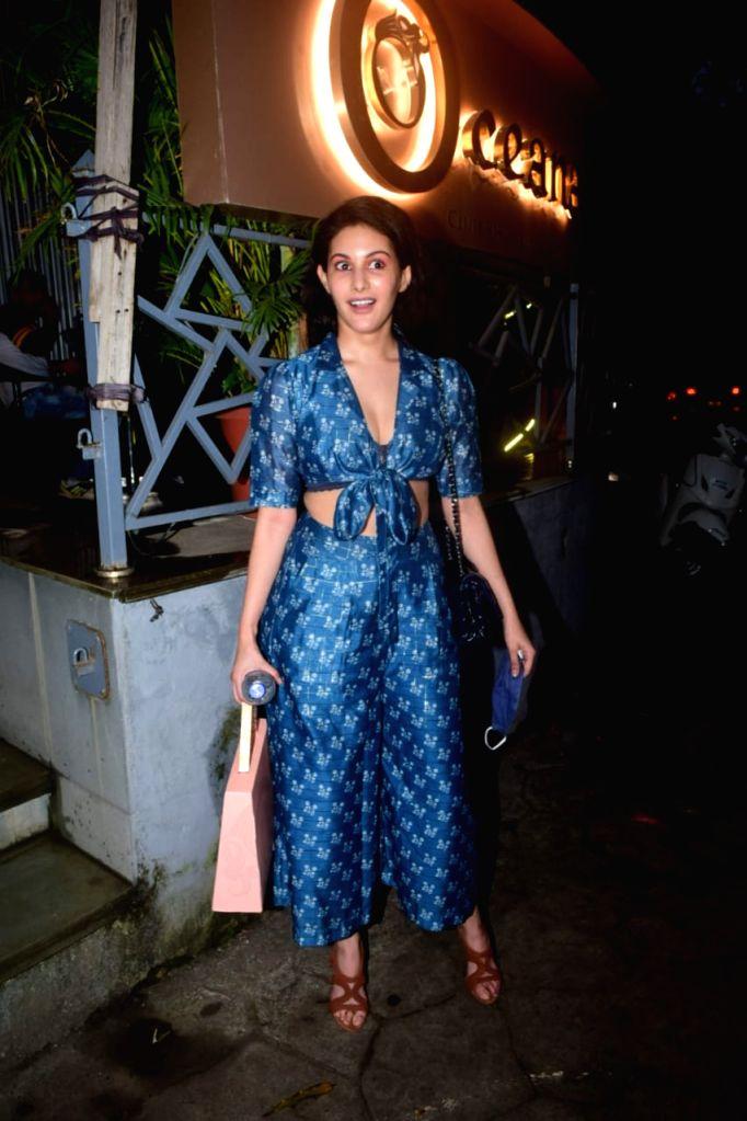 Actress Amyra Dastur seen at Mumbai's Juhu on Oct 14, 2020. - Amyra Dastur