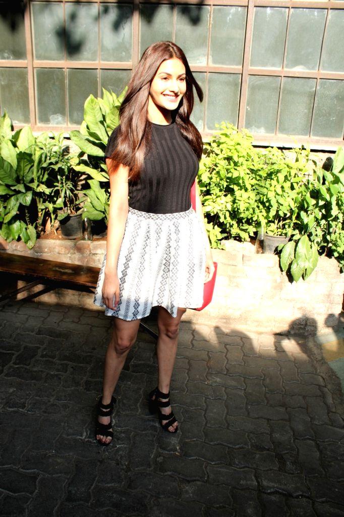 Actress Amyra Dastur seen in Mumbai's Bandra, on April 10, 2019. - Amyra Dastur