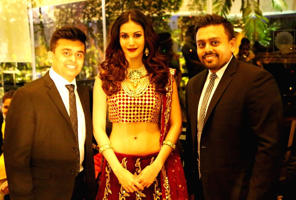 """Actress Amyra Dastur with Ketan Choksi and Jatin Choksi of Narayan Jewellers during """"Ramp for Champs"""" - a programme organised to support girl child empowerment through education in ... - Amyra Dastur"""