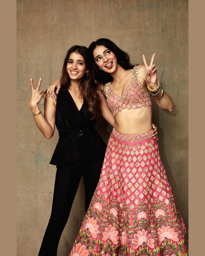 Actress Ananya Panday and designer Arpita Mehta at the Lakme Fashion Week Winter/Festive 2019 in Mumbai on Aug 24, 2019. - Ananya Panday and Arpita Mehta