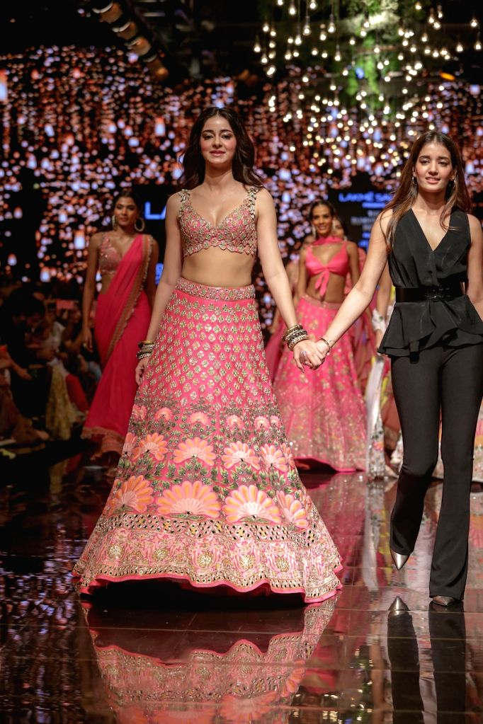 Actress Ananya Panday at the Lakme Fashion Week Winter/Festive 2019 in Mumbai on Aug 24, 2019. - Ananya Panday