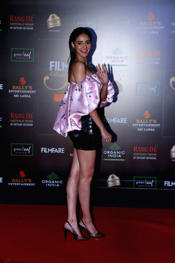 Actress Ananya Panday on the red carpet of Filmfare Glamour And Style Awards 2019 in Mumbai on Dec 3, 2019. - Ananya Panday
