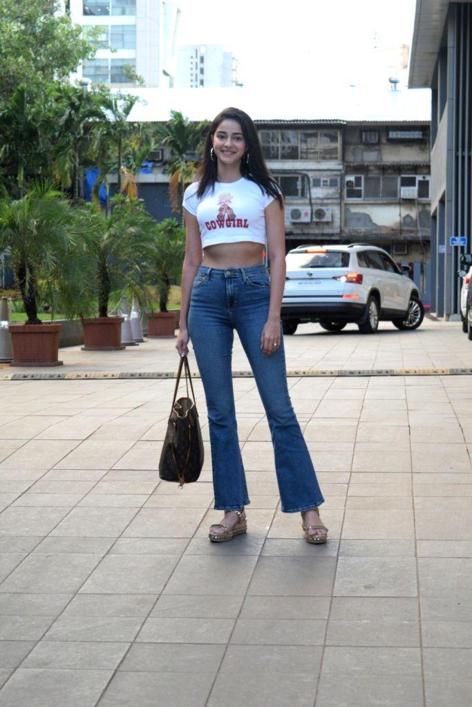 Actress Ananya Panday seen at Andheri in Mumbai, on Aug 28, 2019. - Ananya Panday