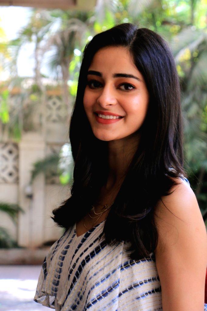 Actress Ananya Panday seen at Mumbai's Andheri, on May 30, 2019. - Ananya Panday