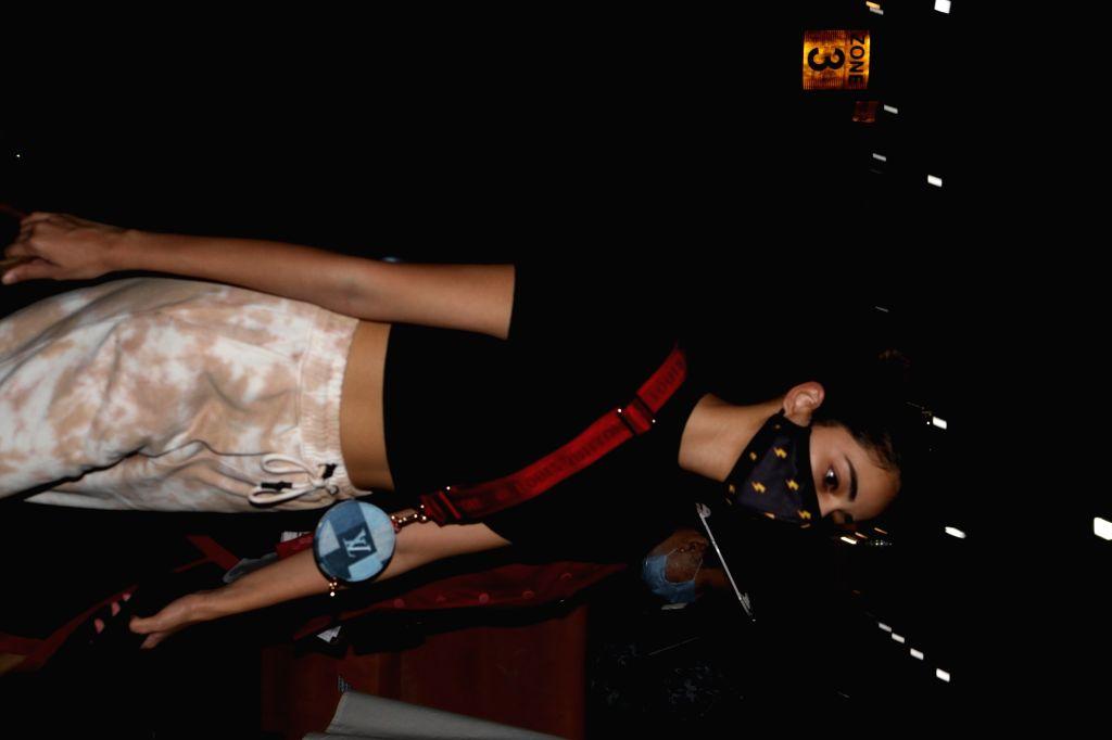 Actress Ananya Panday seen at the Chhatrapati Shivaji Maharaj International Airport in Mumbai on Nov 24, 2020. - Ananya Panday