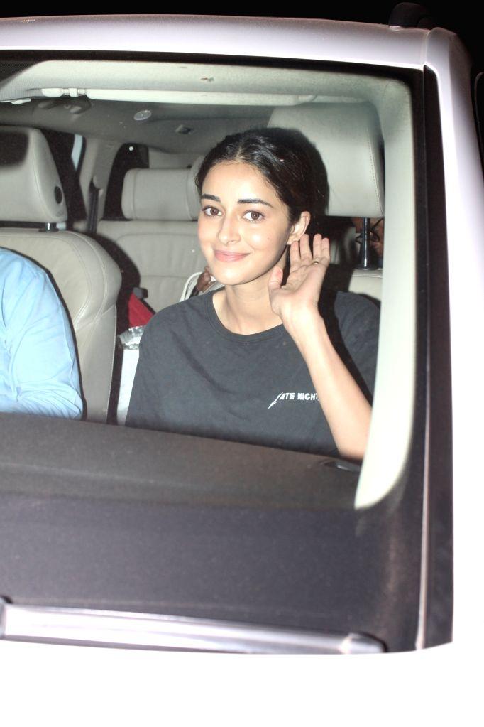 Actress Ananya Panday seen at Versova Jetty, in Mumbai on Jan 27, 2020. - Ananya Panday