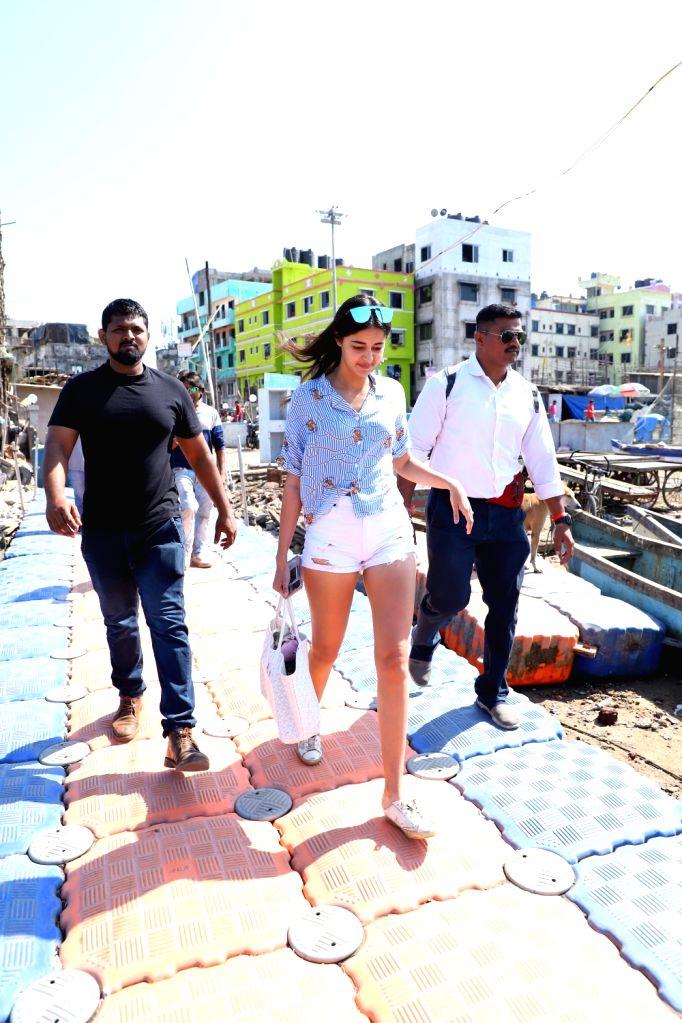 Actress Ananya Panday seen at Versova Jetty, in Mumbai on Jan 28, 2020. - Ananya Panday