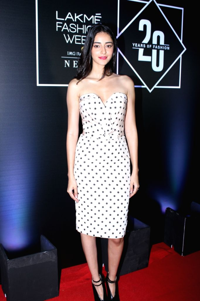 Actress Ananya Pandey at celebration of Lakme Fashion Week 20 Glorious Years of Fashion in Mumbai on Aug 11, 2019. - Ananya Pandey