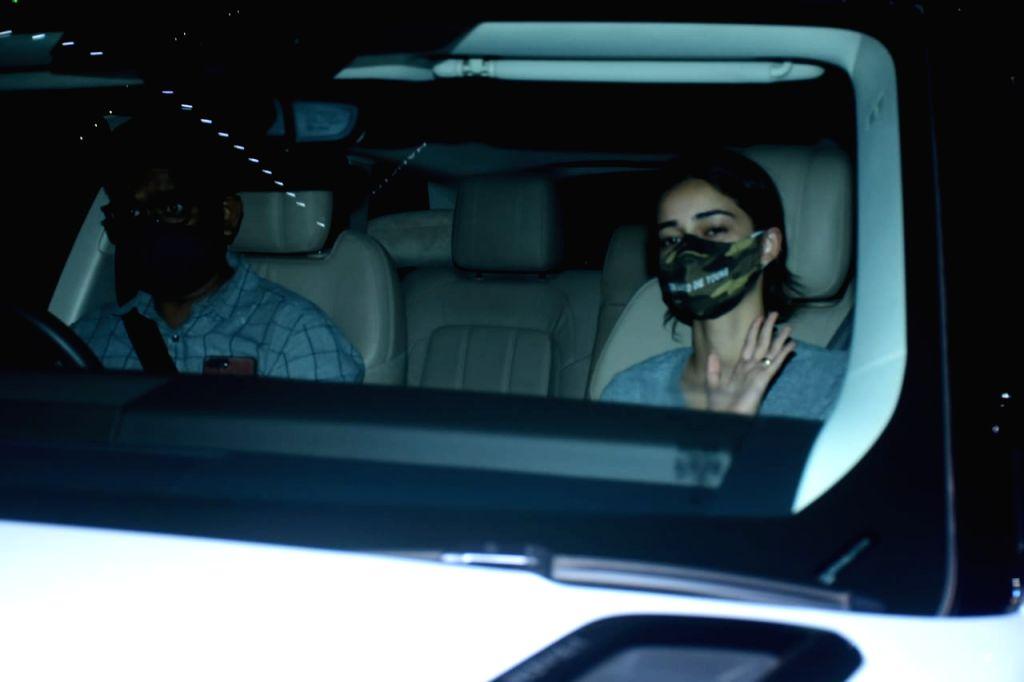 Actress Ananya Pandey seen at Bandra in Mumbai on Nov 18, 2020. - Ananya Pandey