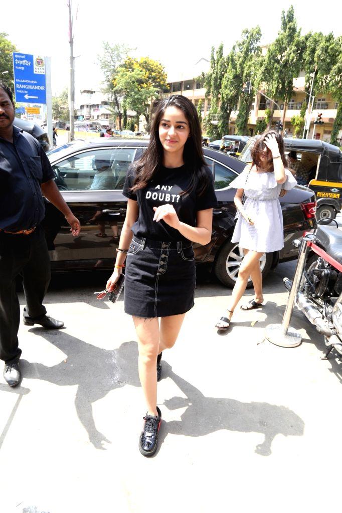 Actress Ananya Pandey seen at Bandra, in Mumbai, on June 2, 2019. - Ananya Pandey
