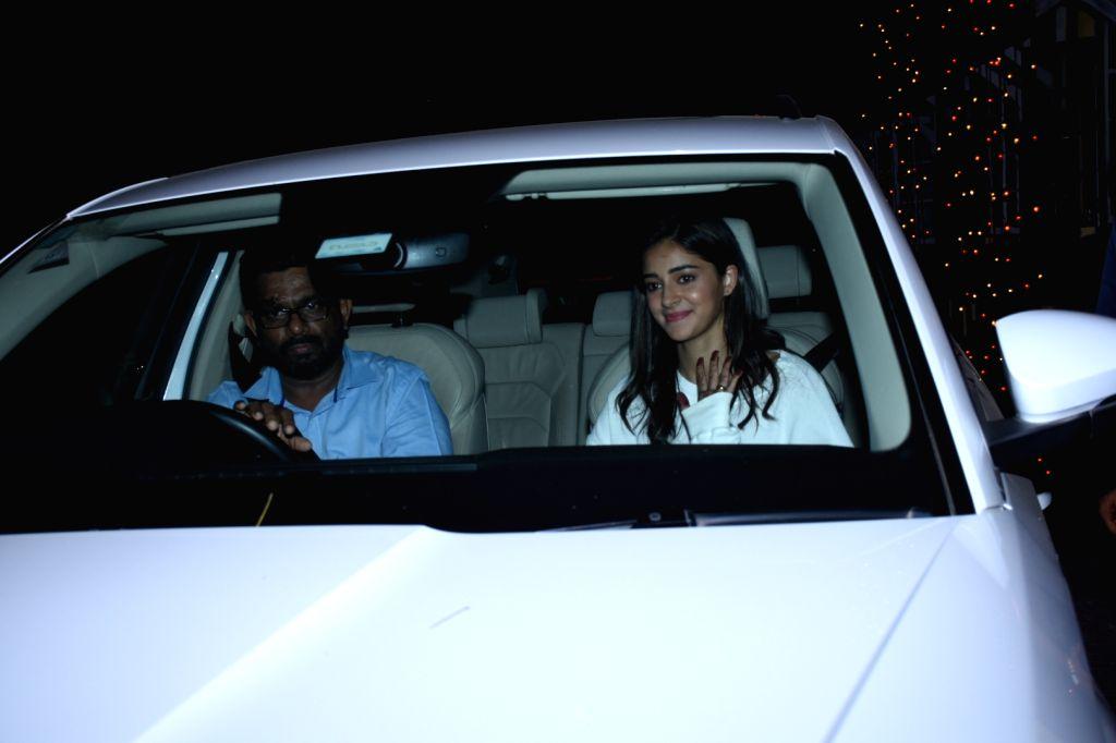 Actress Ananya Pandey seen at Bandra in Mumbai on Oct 15, 2019. - Ananya Pandey