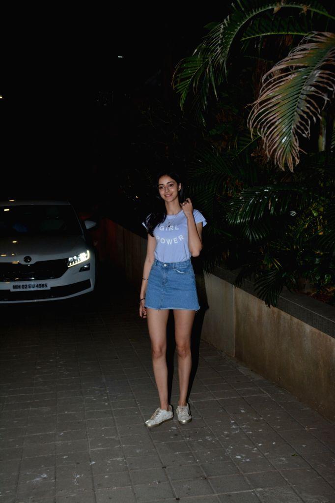Actress Ananya Pandey seen at director Puneet Malhotra's residence in Mumbai, on April 12, 2019. - Ananya Pandey and Puneet Malhotra