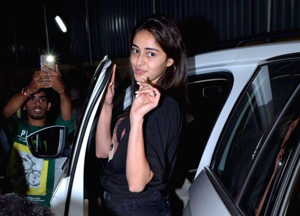 Actress Ananya Pandey seen at Juhu in Mumbai on Nov 12, 2019. - Ananya Pandey