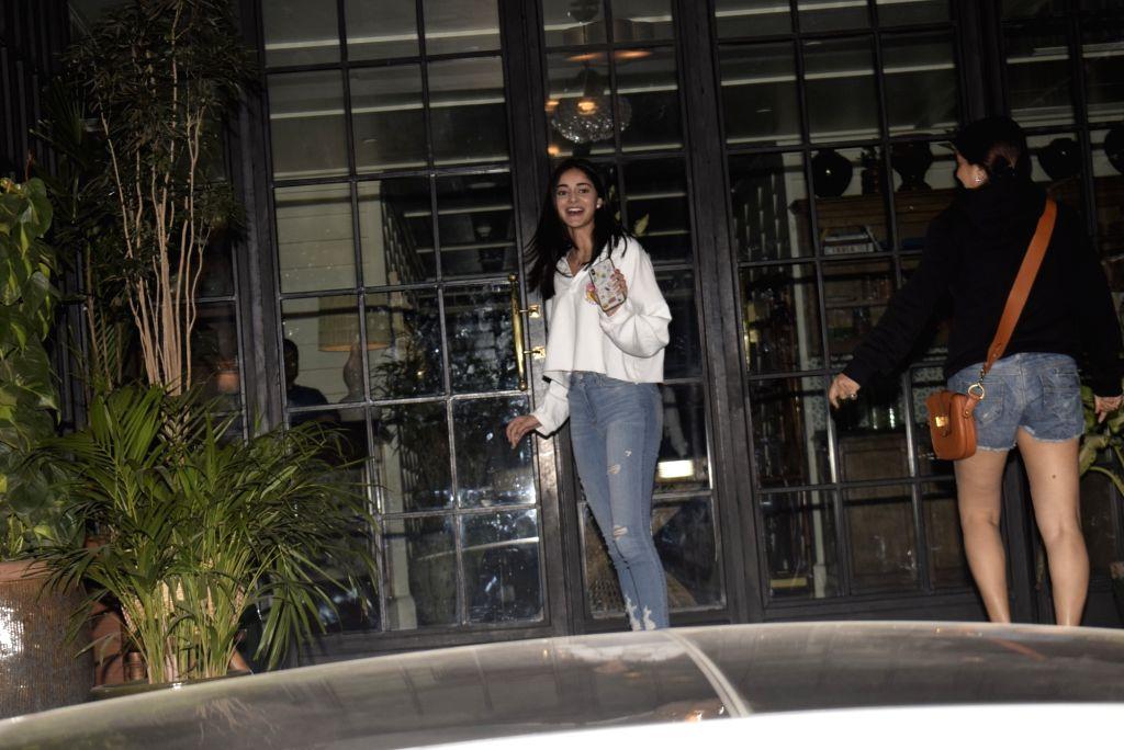 Actress Ananya Pandey seen outside a club in Mumbai's Juhu on Feb 15, 2019. - Ananya Pandey
