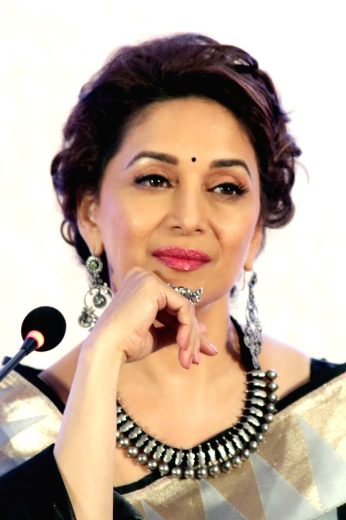 """Actress and brand ambassador of the breastfeeding promotion programme Madhuri Dixit Nene at the launch of the """"MAA- Mother's Absolute Affection"""" a nationwide programme to promote ... - Madhuri Dixit Nene"""