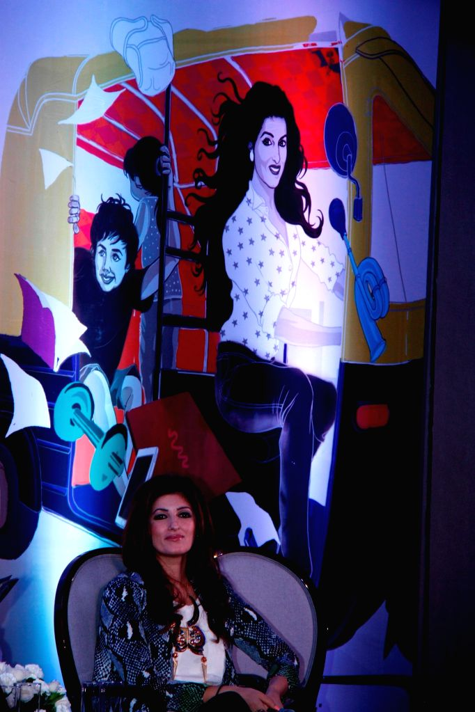 Actress and columnist Twinkle Khanna during the launch of her book Mrs.Funnybones, in Mumbai, on Aug 18, 2015.