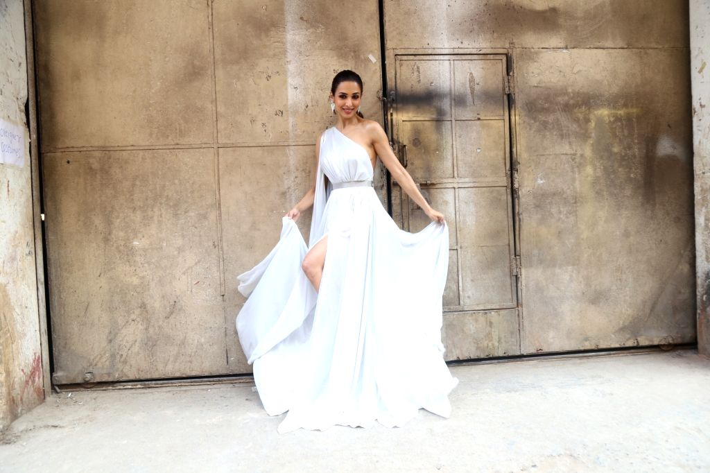 "Actress and dance reality show ""India's Best Dancer"" judge Malaika Arora on the sets of the show, in Mumbai on Jan 24, 2020. - Malaika Arora"