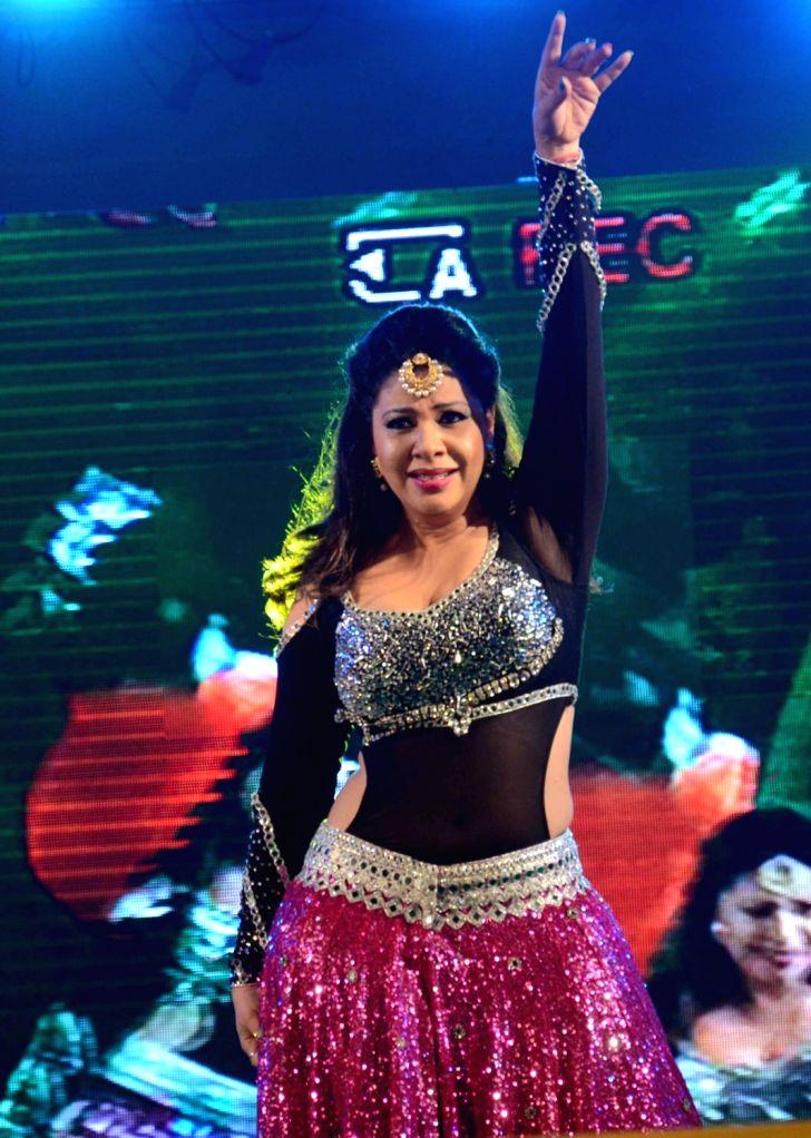 "Actress and dancer Sambhavna Seth performs during ""Dashahara Mela"" at Gandhi Midan in Patna on Sept 10, 2017. - Sambhavna Seth"