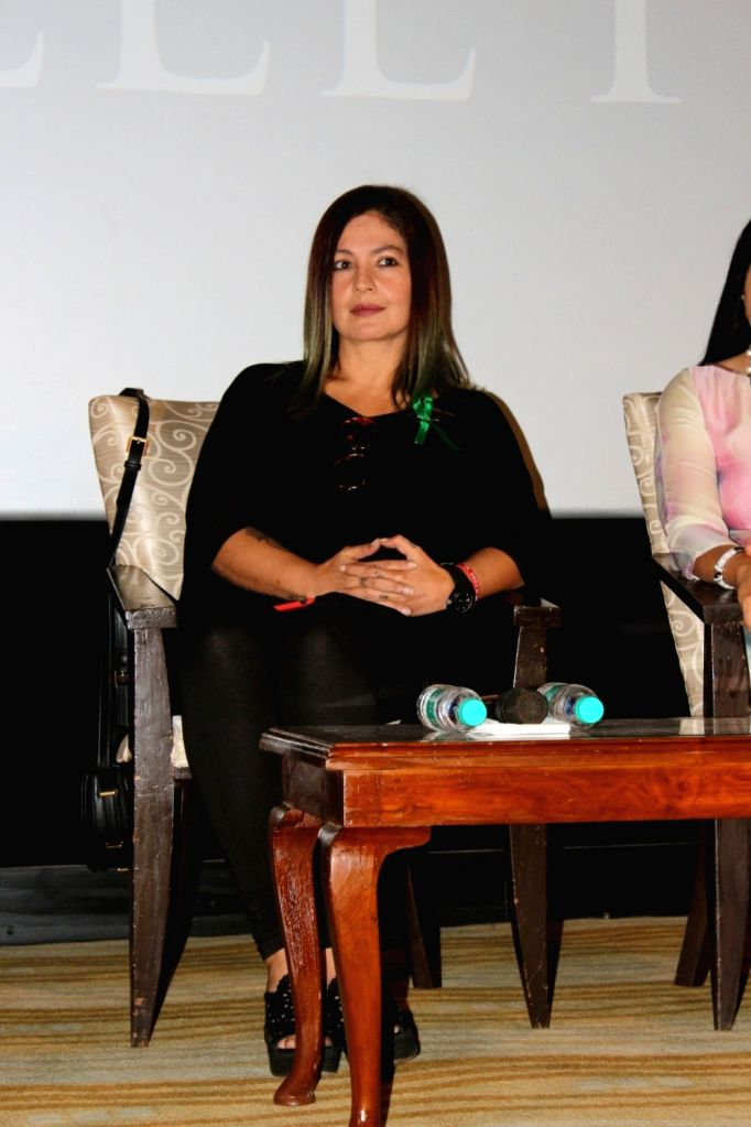 """Actress and Director Pooja Bhatt during the promotion of film """"The Valley"""" in Mumbai on Oct 10, 2017."""