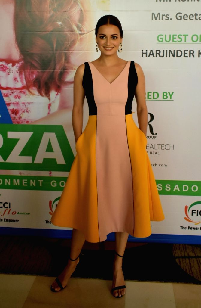 """Actress and UN Environment Goodwill Ambassador for India, Dia Mirza during """"Green Awakening: A Step towards our  environment"""" programme organised by the FICCI Ladies Organisation ... - Dia Mirza"""