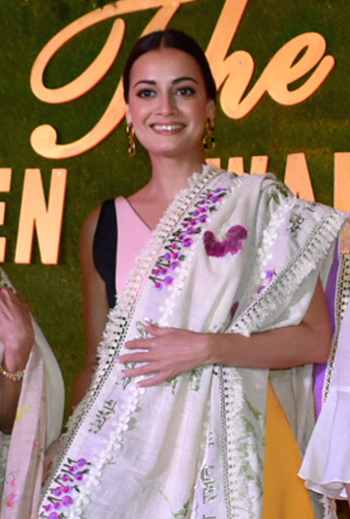 "Actress and UN Environment Goodwill Ambassador for India, Dia Mirza during ""Green Awakening: A Step towards our  environment"" programme organised by the FICCI Ladies Organisation ... - Dia Mirza"