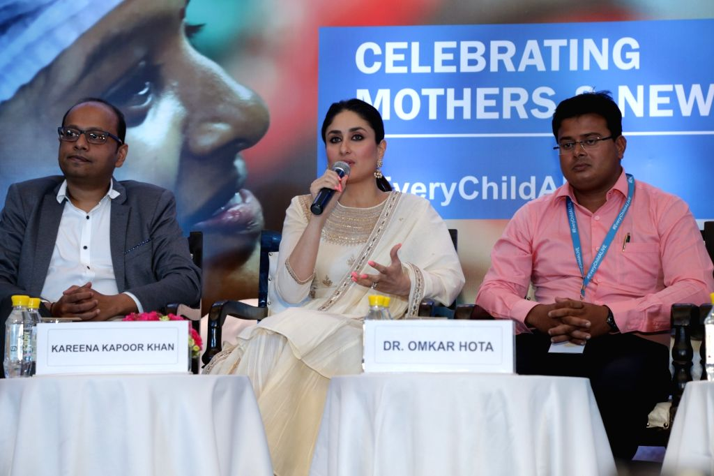 "Actress and UNICEF Goodwill Advocate Kareena Kapoor Khan during a panel discussion on ""Every ChildAlive and safe motherhood"" organised by UNICEF on Mother's Day in New Delhi, on ..."