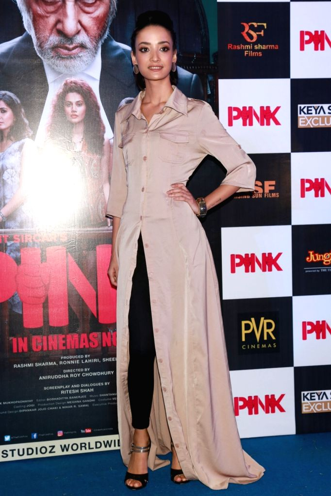 "Actress Andrea Tariang during a press conference to promote their film ""Pink"" in New Delhi on Sept 16, 2016. - Andrea Tariang"