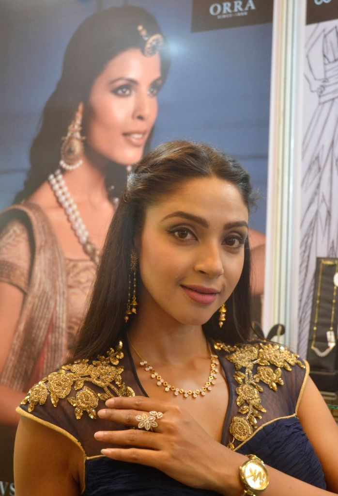 """Actress Angana Roy during the inauguration of the """"Asia Jewellers Fair 2018"""" in Bengaluru on April 6, 2018. - Angana Roy"""