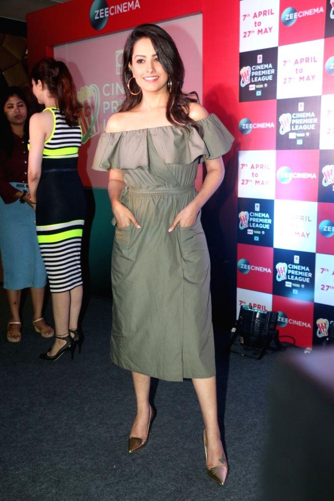 Actress Anita Hassanandani at the launch of Zee Cinema Premier League in Mumbai on April 5, 2018. - Anita Hassanandani