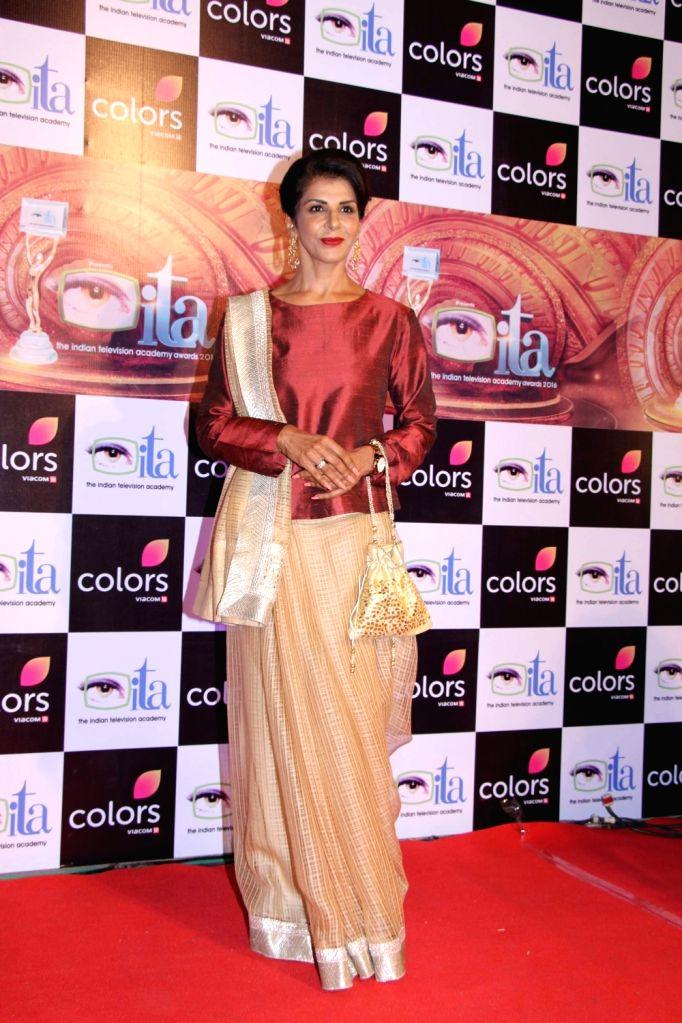 Actress Anita Raj during the 16th Indian Television Academy (ITA) Awards 2016 in Mumbai on Nov 13, 2016. - Anita Raj