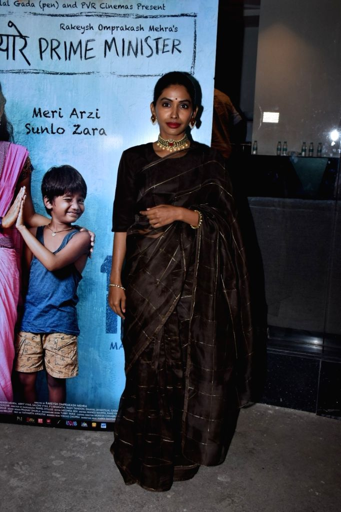 "Actress Anjali Patil at the screening of her upcoming film ""Mere Pyare Prime Minister"" in Mumbai, on March 14, 2019. - Anjali Patil"