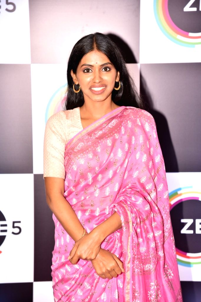 Actress Anjali Patil on the red carpet of Zee5's first anniversary celebrations in Mumbai, on Feb 14, 2019. - Anjali Patil