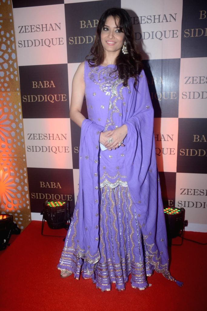 Actress Ankita Lokhande at politician Baba Siddique's iftar party in Mumbai on June 10, 2018. - Ankita Lokhande